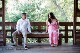 East Bay Maternity Photo in Japanese Garden