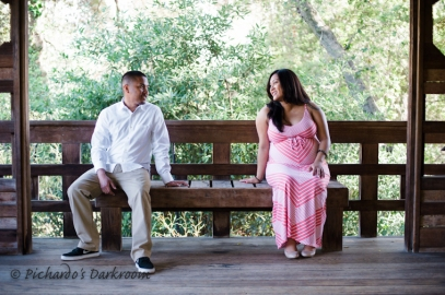 East Bay Maternity Photo in Japanese Garden