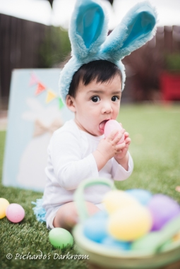 Baby Easter egg hunt
